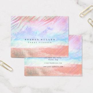 El cepillo de pintura en colores pastel raya la tarjeta de negocios