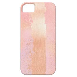 El cepillo frota ligeramente el oro color de rosa funda para iPhone SE/5/5s