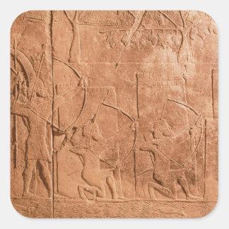 El cerco de Alammu del ejército de Sennacherib Calcomanía Cuadrada Personalizada