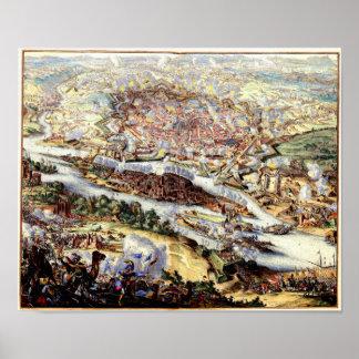 El cerco turco de Viena 1863 Póster