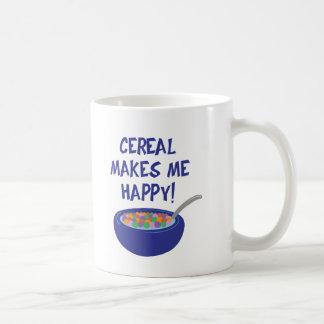 El cereal me hace feliz taza