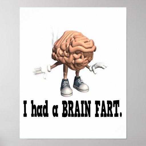 El cerebro Fart Poster