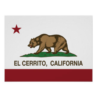 EL Cerrito de la bandera del estado de California Impresiones