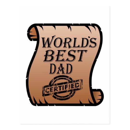 El certificado certificado el mejor papá de postal