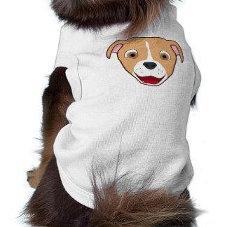 El cervatillo Pitbull hace frente con el Camiseta Sin Mangas Para Perro