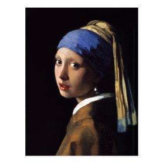 El chica con un pendiente de la perla de Juan Postal