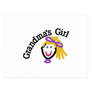 El chica de la abuela postal