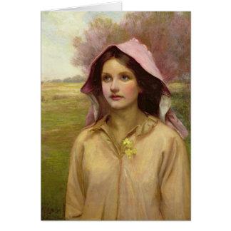El chica de la primavera tarjeta de felicitación