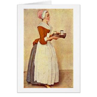El chica del chocolate de Jean-Etienne Liotard Tarjeta