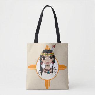 El chica del nativo americano diseñó la bolsa de