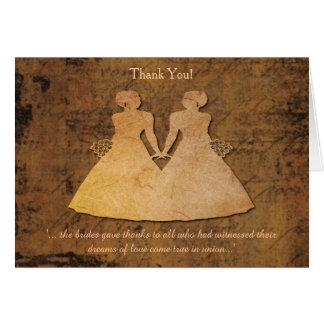 El chica encuentra al chica que el boda lesbiano tarjeta de felicitación