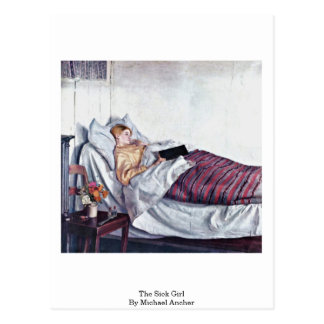 El chica enfermo (guarida Syge Pige) por Michael A Tarjetas Postales