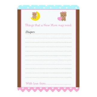 El chica lleva la lista del consejo para la nueva invitación 12,7 x 17,8 cm