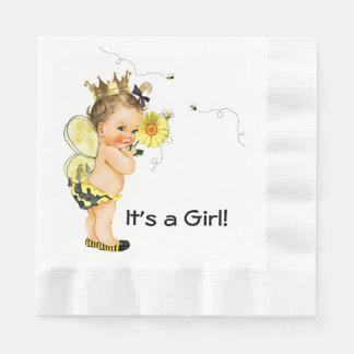 El chica manosea la fiesta de bienvenida al bebé servilleta desechable