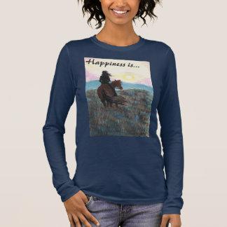 """El chica y el caballo """"felicidad es"""" camiseta de"""