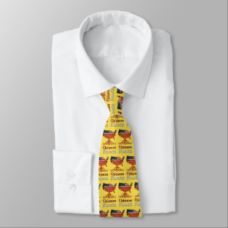 El chino americano arraiga la corbata