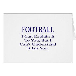 El chiste del entrenador de fútbol… explica para tarjeta de felicitación