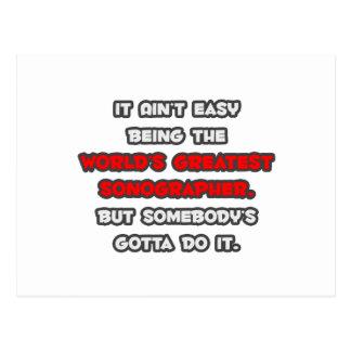 El chiste más grande de Sonographer del mundo Postal