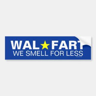 El chiste no maduro del centro comercial de Wal so Pegatina Para Coche