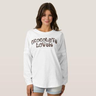 El chocolate asperja tipografía divertida de los camiseta spirit