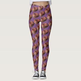 El chocolate de los pantalones de la yoga asperja