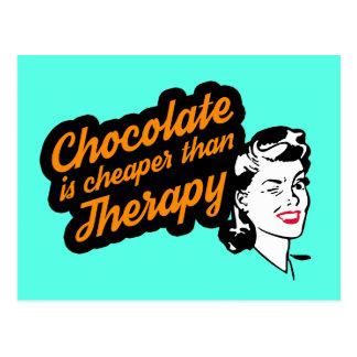 El chocolate es más barato que la postal de la