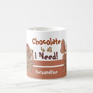 El chocolate es todo lo que necesito para Pascua Taza De Café