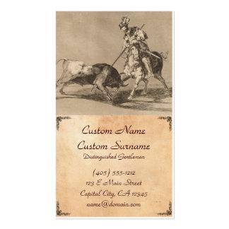 El Cid Campeador que alancea otra Bull José Goya Tarjetas De Visita