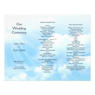 El cielo azul se nubla programa triple del boda folleto 21,6 x 28 cm