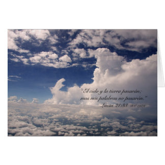 EL Cielo Carta de la estafa del 21:33 de Lucas Tarjeta De Felicitación