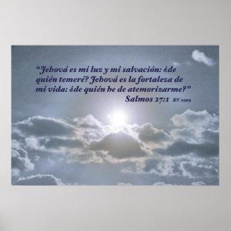 EL Cielo de la estafa del 27:1 de Salmos Poster