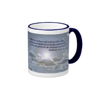 EL Cielo de la estafa del 27:1 de Salmos Taza A Dos Colores
