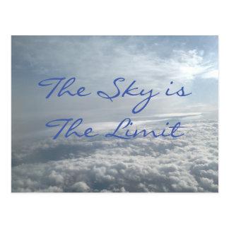 El cielo es el límite, tarjeta de motivación de postal