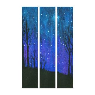 El cielo nocturno del arte del paisaje de la