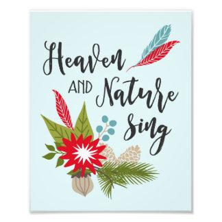 El cielo y la naturaleza cantan a | la impresión foto