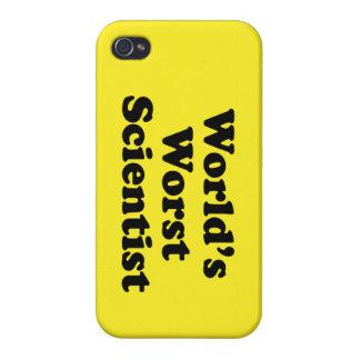 El científico peor del mundo iPhone 4 carcasas