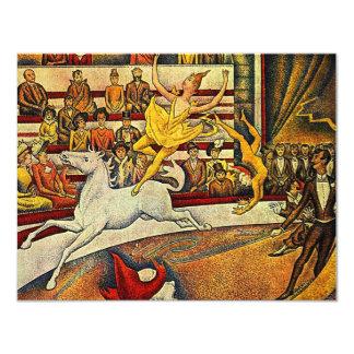 El circo de Jorte Seurat (1891) Invitación 10,8 X 13,9 Cm