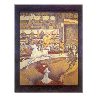 El circo de Jorte Seurat, Pointillism del vintage Invitacion Personal