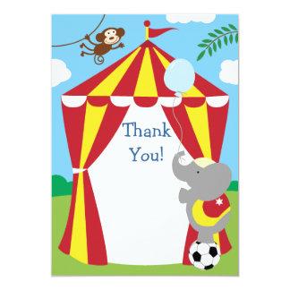 El circo de los niños del personalizable le invitación 12,7 x 17,8 cm