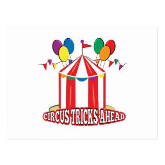 El circo engaña a continuación postal
