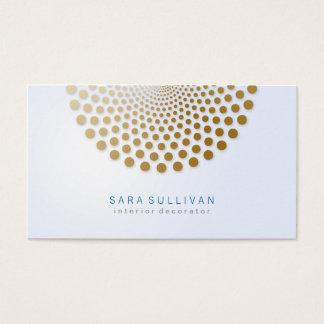 El círculo de la tarjeta de visita del decorador