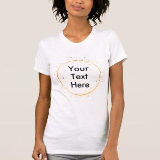 El círculo del oro del dibujo de Digitaces crea su Camiseta