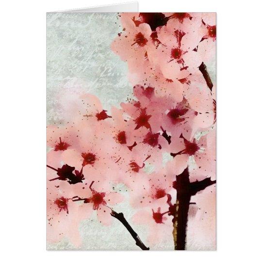 El ciruelo florece tarjeta