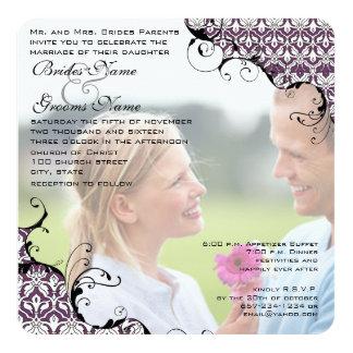 El ciruelo su boda de la foto me invita casa a mi invitación 13,3 cm x 13,3cm