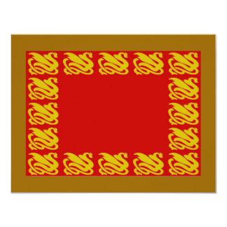 El cisne invita a 3 invitación 10,8 x 13,9 cm