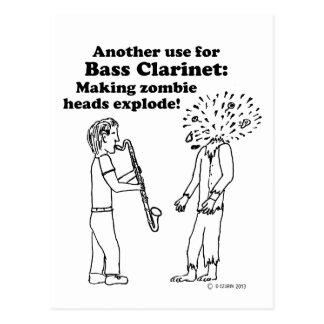 El clarinete bajo hace que los zombis estallan tarjetas postales