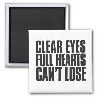 El claro observa, los corazones completos, no imanes