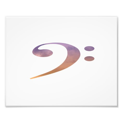 el clef bajo se nubla el naranja púrpura impresiones fotograficas