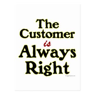 El cliente es siempre refrán correcto postal