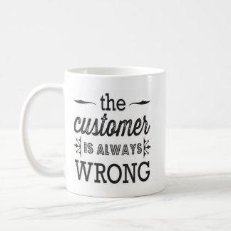 el cliente es siempre taza incorrecta